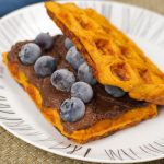 Easy to make, very easy to eat, these sweet potato pancakes hit the spot, every time! #waffles