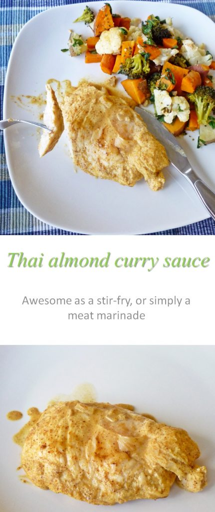 Thai almond curry sauce