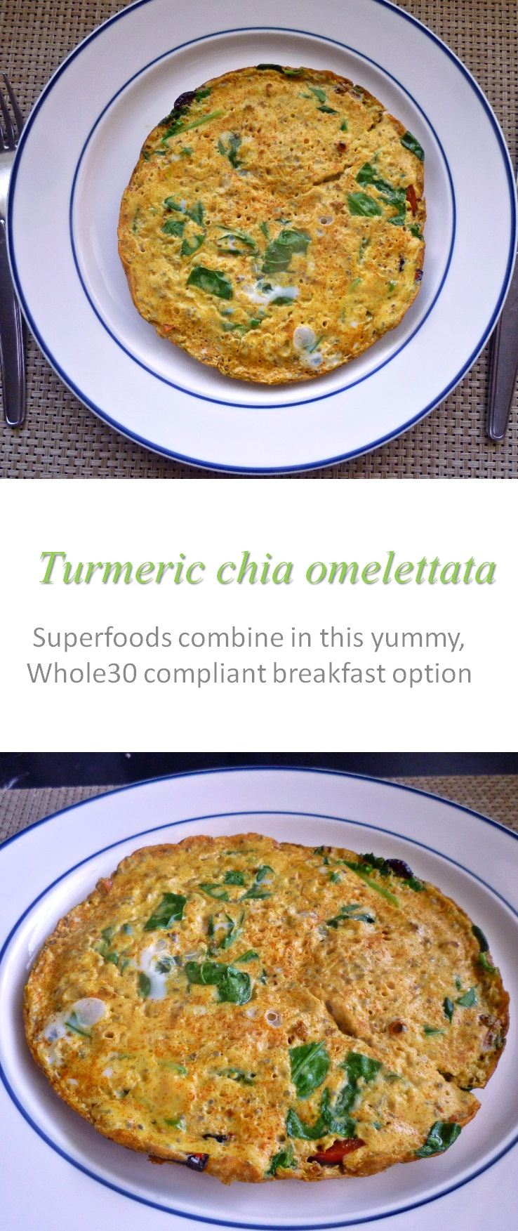 Putting two amazing ingredients into your omelette just made this turmeric chia omelettata your new favorite breakfast! #omelette