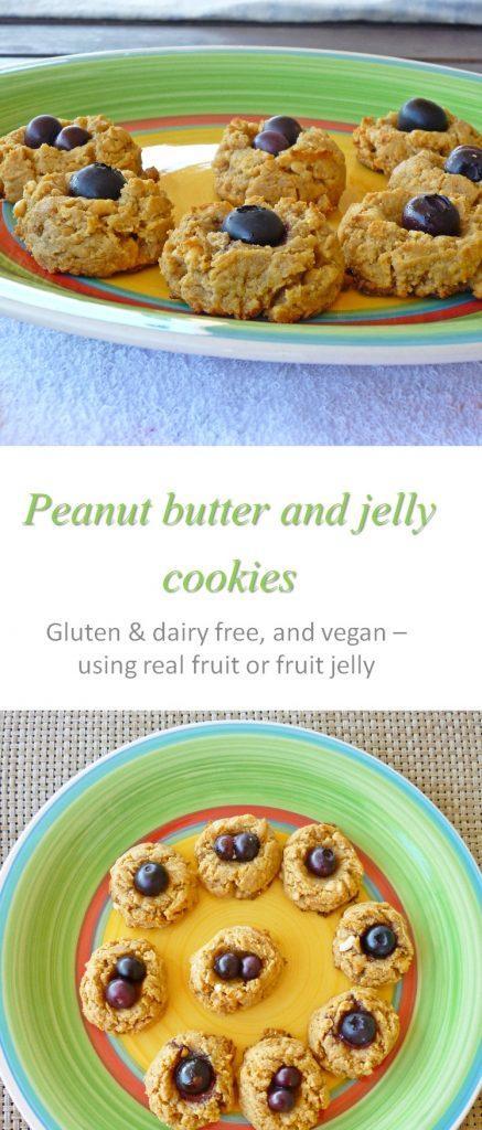 Vegan pb and jelly cookies