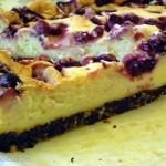 White chocolate baked berry cheesecake