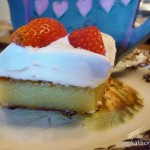 White chocolate flan