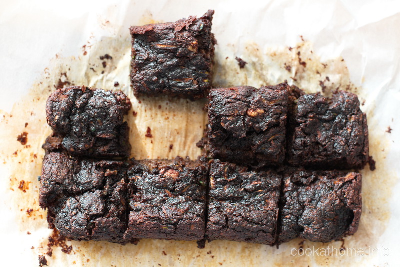 A rich and moist gluten and dairy free brownie with the secret ingredient of zucchini. And no refined sugar. Double bonus for these zucchini brownies! #zucchini